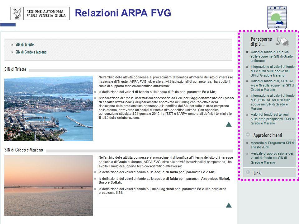 27 giugno 201319 Relazioni ARPA FVG