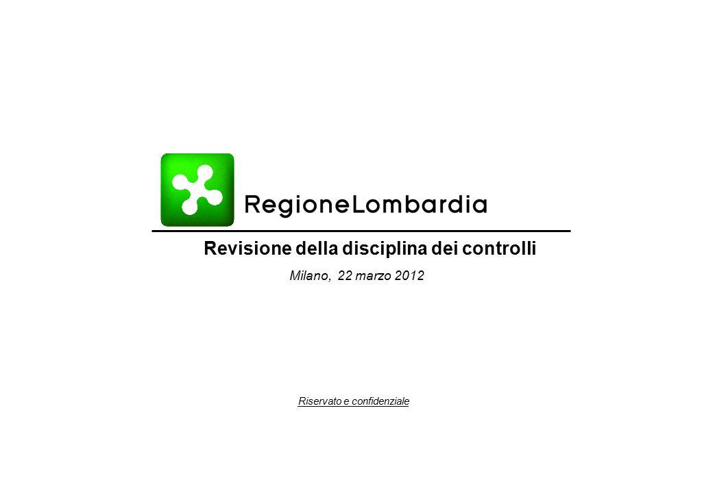Riservato e confidenziale Revisione della disciplina dei controlli Bozza di lavoro Milano, 22 marzo 2012