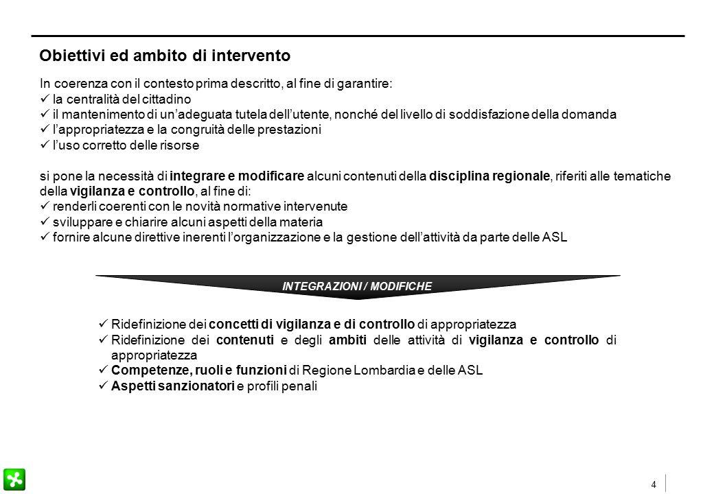4 Obiettivi ed ambito di intervento In coerenza con il contesto prima descritto, al fine di garantire: la centralità del cittadino il mantenimento di
