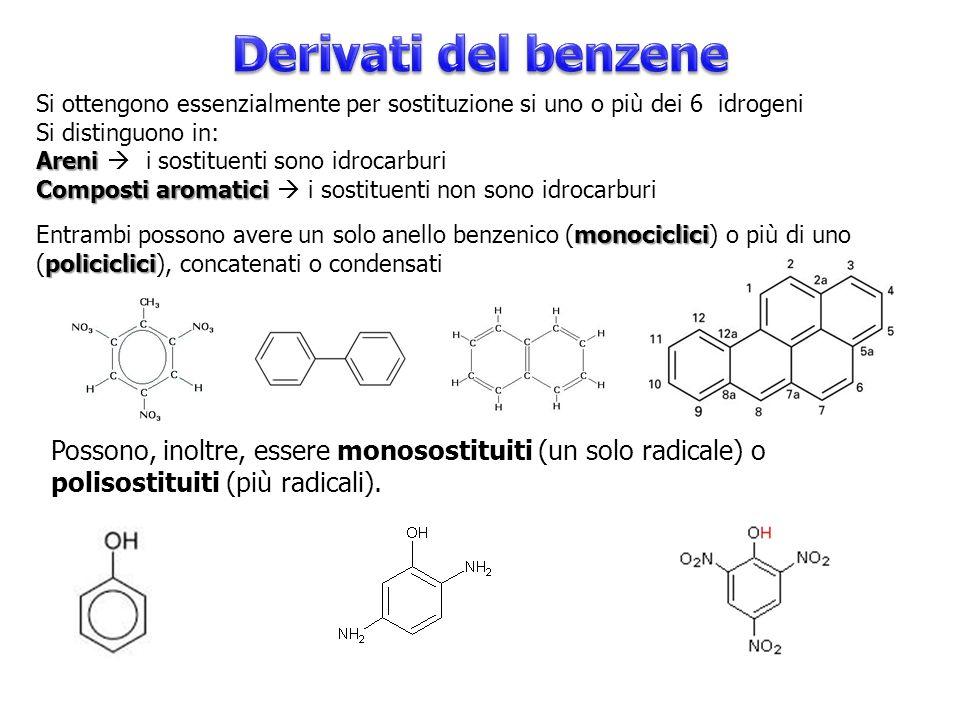Benzene Segue le regole generali nominando l'anello principale con Benzene (meglio di 1,3,5 esatriene).
