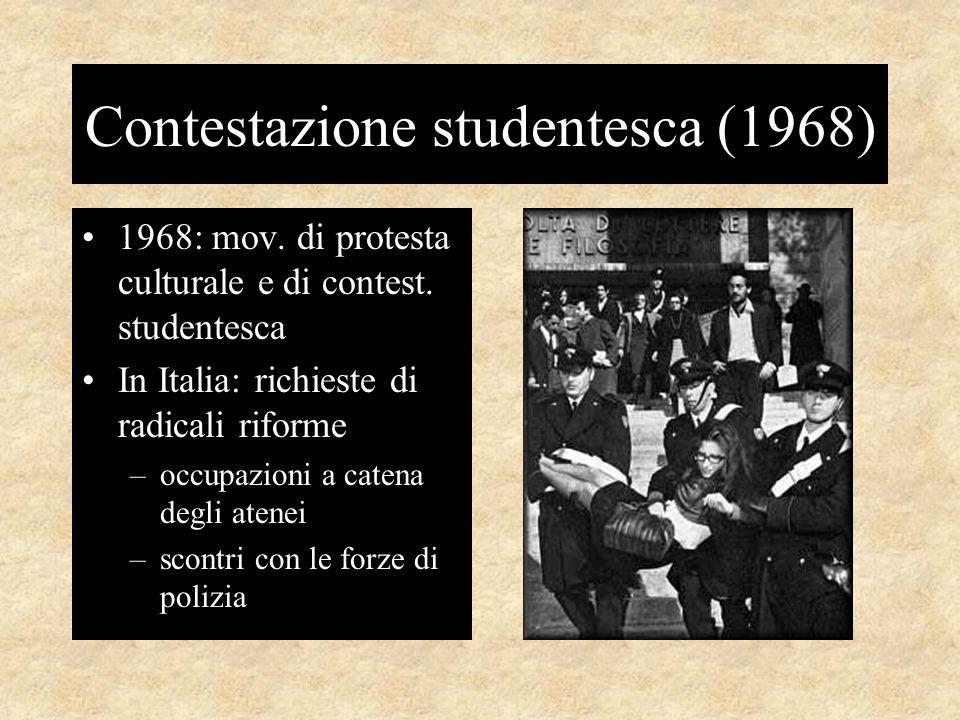 Contestazione studentesca (1968) 1968: mov.di protesta culturale e di contest.
