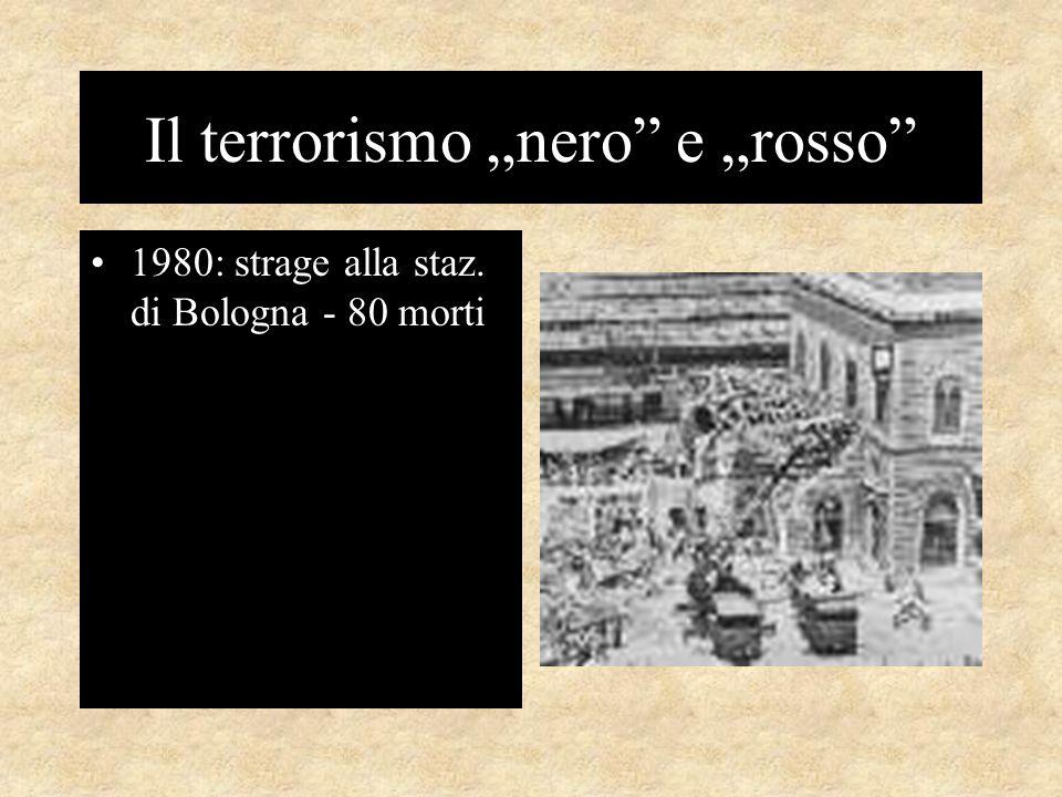 """Il terrorismo """"nero e """"rosso 1980: strage alla staz. di Bologna - 80 morti"""