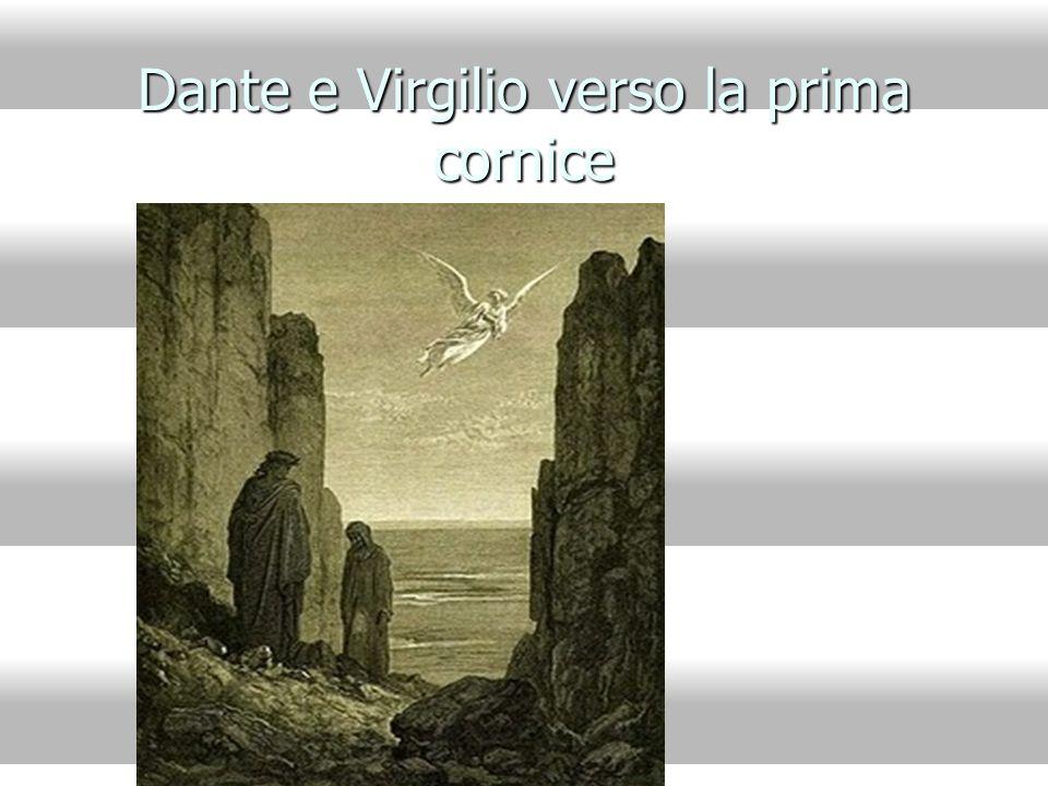 Dante e Virgilio verso la prima cornice
