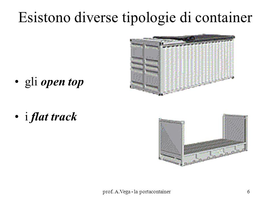 Esistono diverse tipologie di container gli open top i flat track prof. A.Vega - la portacontainer6