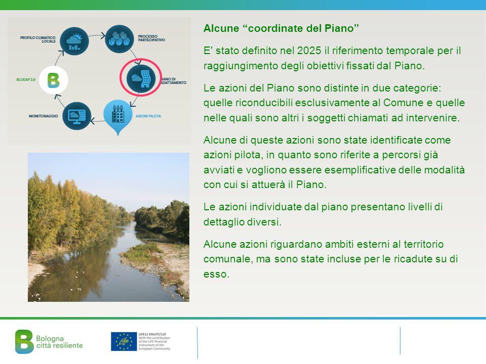 Alcune coordinate del Piano E stato definito nel 2025 il riferimento temporale per il raggiungimento degli obiettivi fissati dal Piano.