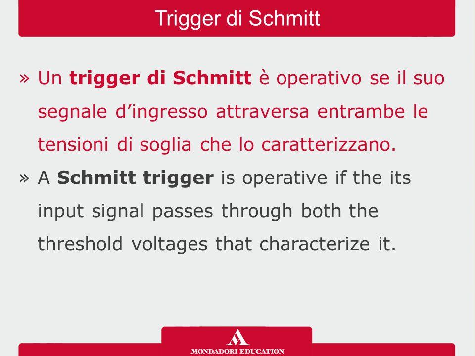 »Un trigger di Schmitt è operativo se il suo segnale d'ingresso attraversa entrambe le tensioni di soglia che lo caratterizzano.