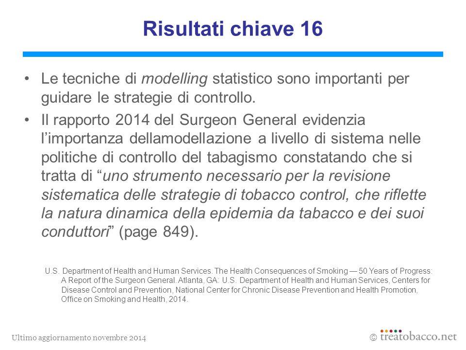 Ultimo aggiornamento novembre 2014  Le tecniche di modelling statistico sono importanti per guidare le strategie di controllo.