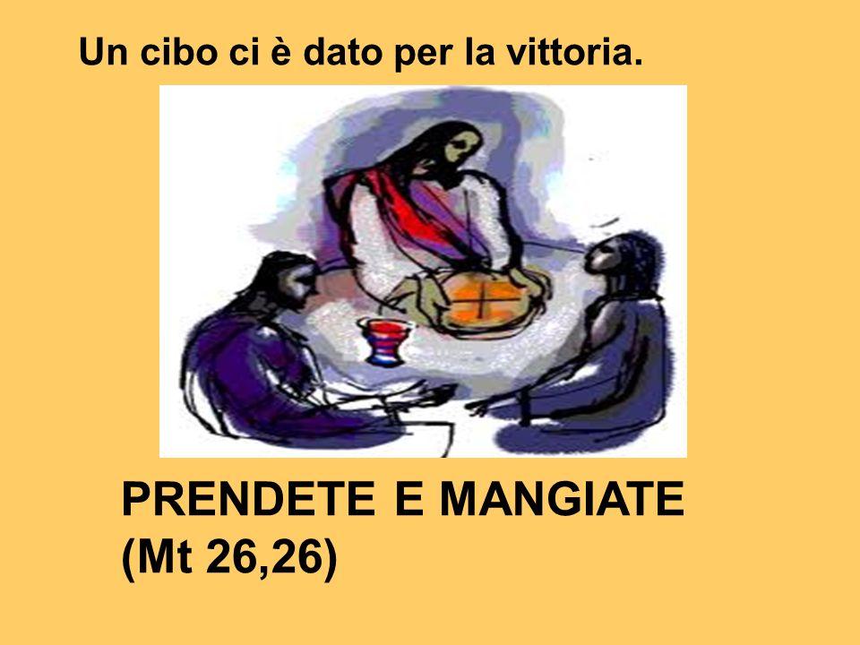 PRENDETE E MANGIATE (Mt 26,26) Un cibo ci è dato per la vittoria.