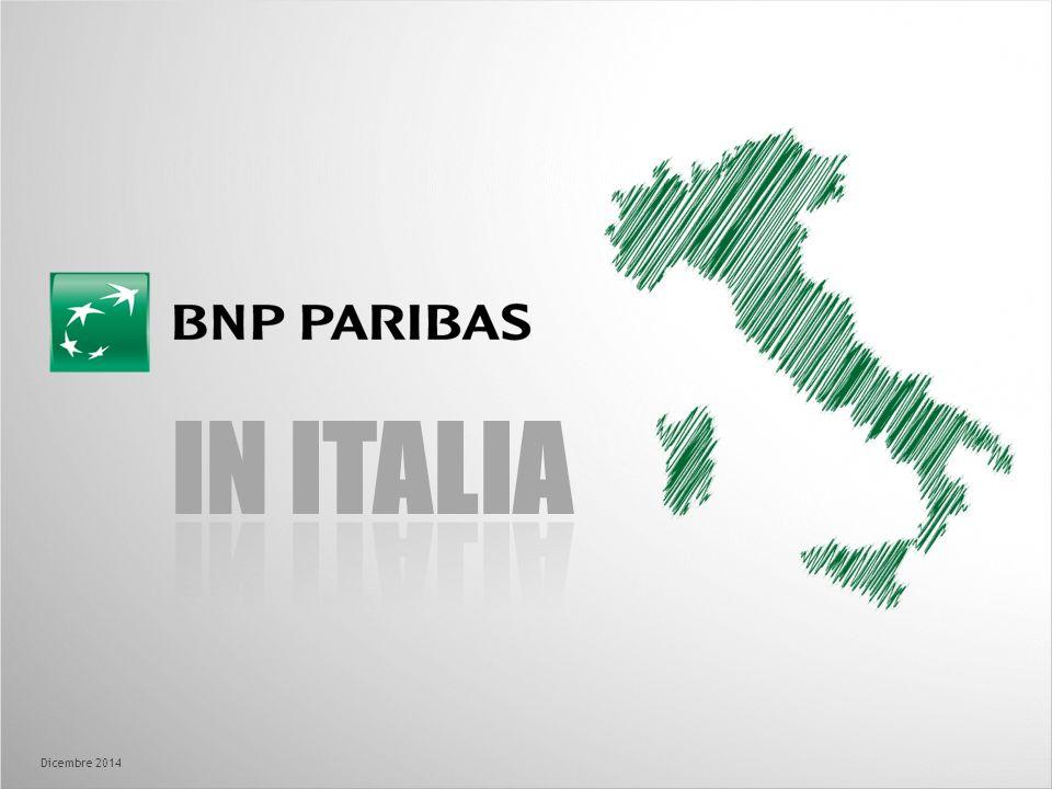 BNP PARIBAS IN ITALIA In Italia BNP Paribas è presente da oltre 40 anni e l'Italia è il 2°mercato dopo la Francia In Italia BNP Paribas è il 3°gruppo bancario per ricavi e opera con 19.000 collaboratori e 28 aziende specialistiche In Italia BNP Paribas offre un'ampia gamma di prodotti e servizi attraverso i suoi 3 poli, accompagnando clienti privati ed imprese per ogni esigenza finanziaria Fabio Gallia, CEO di BNL Gruppo BNP Paribas, è dal Maggio 2012 Responsabile del Gruppo BNP Paribas per l'Italia BNP Paribas è una delle grandi banche internazionali con il miglior livello di capitalizzazione in area Euro Nel 2013 BNP Paribas ha realizzato 38,8 Miliardi di Margine di Intermediazione, 4,8 Miliardi di Utile netto di Gruppo con una redditività del 6,1% (7,7% al netto degli elementi non ricorrenti) I rating a lungo termine di BNP Paribas sono A+ per Standard & Poor, A2 per Moody's, A+ per Fitch BNP Paribas è prima al mondo fra le banche per la sua politica di Responsabilità Sociale secondo Vigeo 2013 BNP Paribas in Italia BNP Paribas è leader nei servizi bancari e finanziari in Europa e nel Mondo, presente in oltre 70 Paesi con circa 190.000 collaboratori.