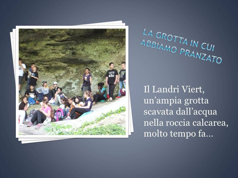 Il Landri Viert, un'ampia grotta scavata dall'acqua nella roccia calcarea, molto tempo fa…