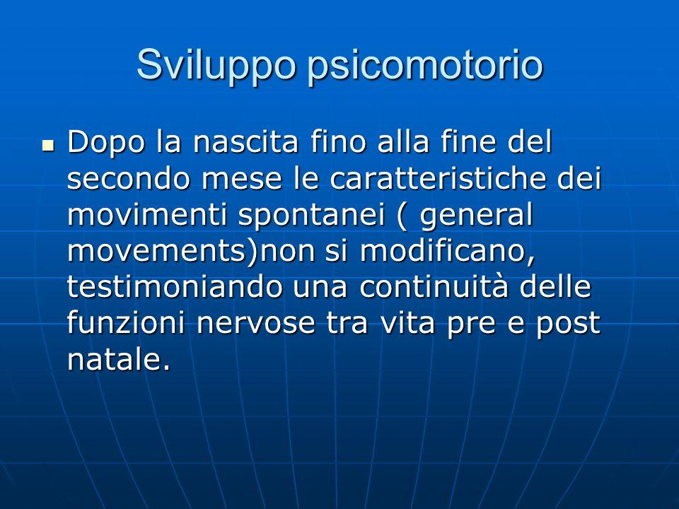 Sviluppo psicomotorio Primo stadio : riconosce la postura per l'allattamento, ricerca il capezzolo Primo stadio : riconosce la postura per l'allattamento, ricerca il capezzolo