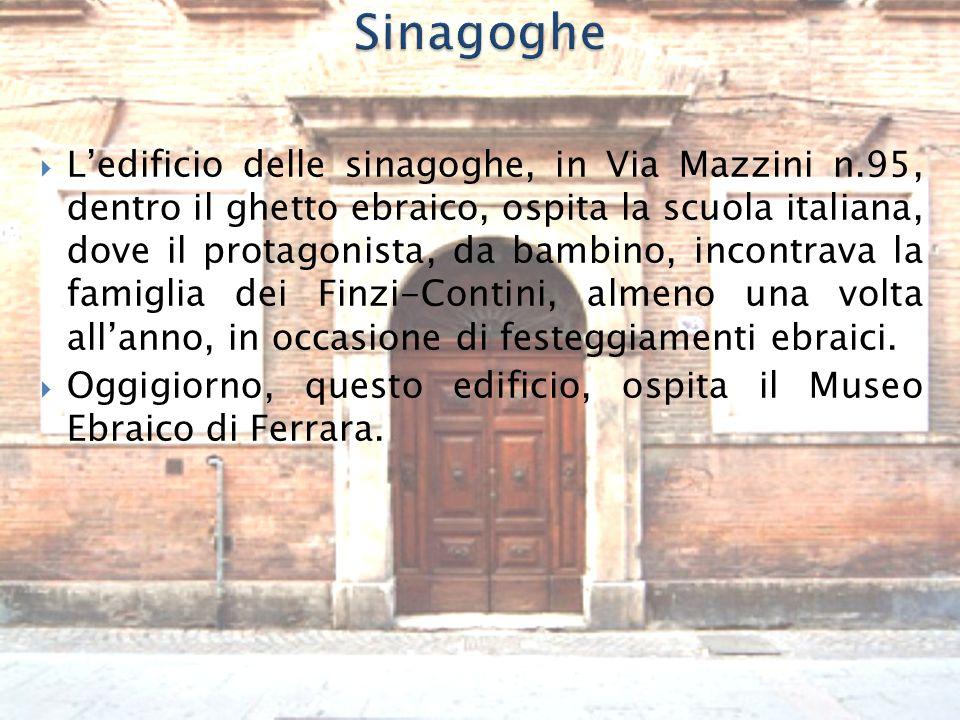  La via delle Vigne, è ancora un luogo reale nel romanzo di Bassani, dove mette l'immaginaria cappella funebre dei Finzi-Contini.