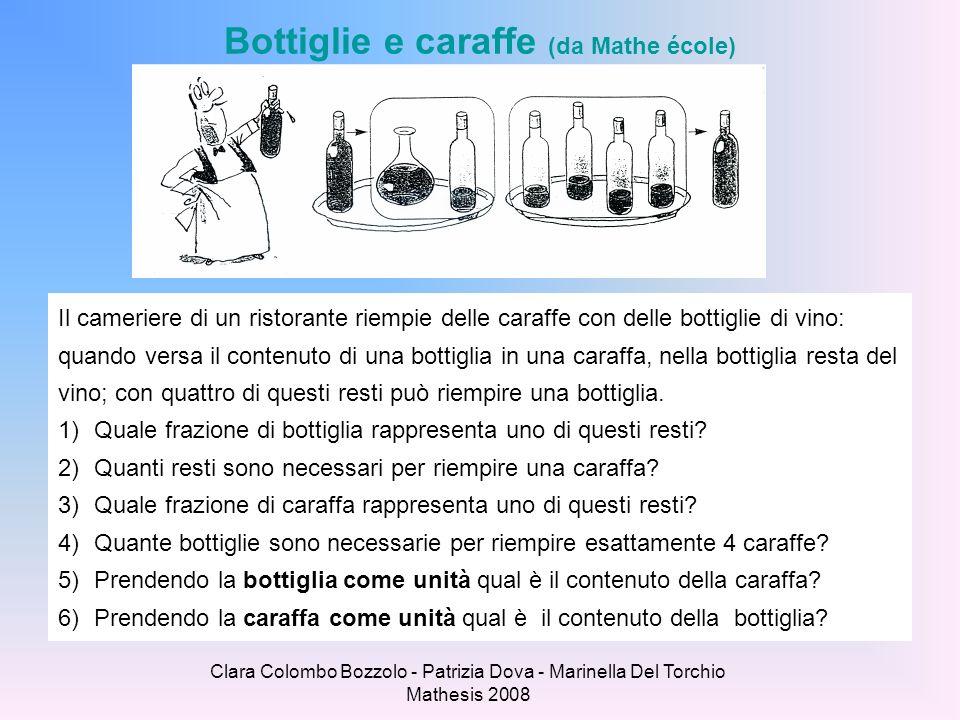Clara Colombo Bozzolo - Patrizia Dova - Marinella Del Torchio Mathesis 2008 Bottiglie e caraffe (da Mathe école) Il cameriere di un ristorante riempie