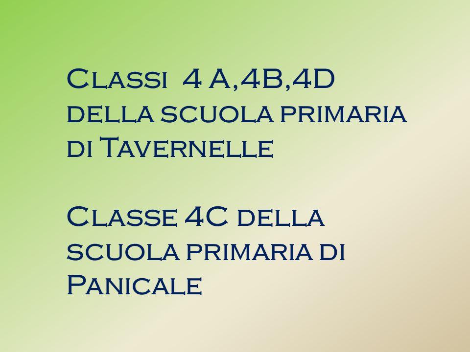 Classi 4 A,4B,4D della scuola primaria di Tavernelle Classe 4C della scuola primaria di Panicale