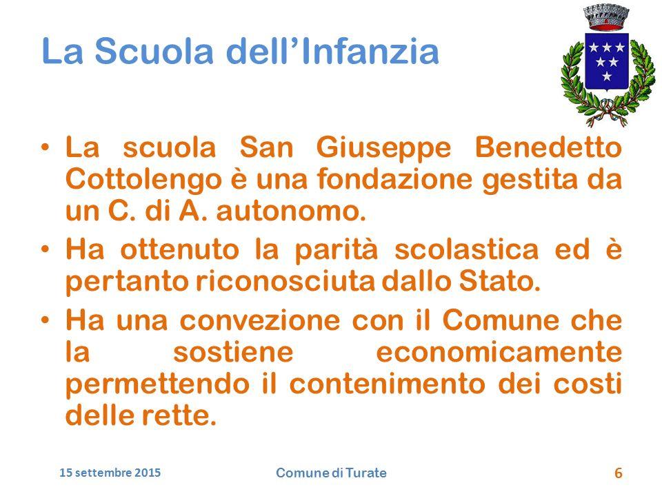 La Scuola dell'Infanzia La scuola San Giuseppe Benedetto Cottolengo è una fondazione gestita da un C.