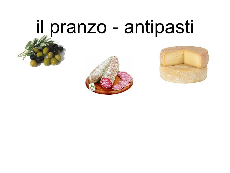 il pranzo - antipasti