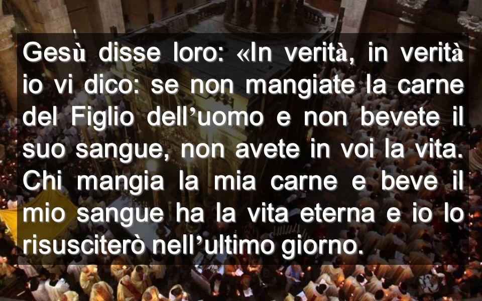 Questa carne e questo sangue sono quelli che reciviamo nell'Eucaristia Dopo la morte Gesù uscì dalla tomba con una carne e un sangue RISORTI