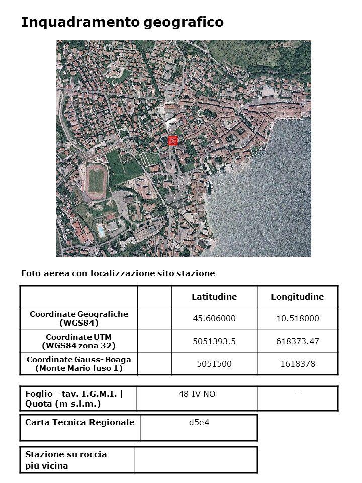 Foto aerea con localizzazione sito stazione Foglio - tav. I.G.M.I. | Quota (m s.l.m.) 48 IV NO- Inquadramento geografico LatitudineLongitudine Coordin