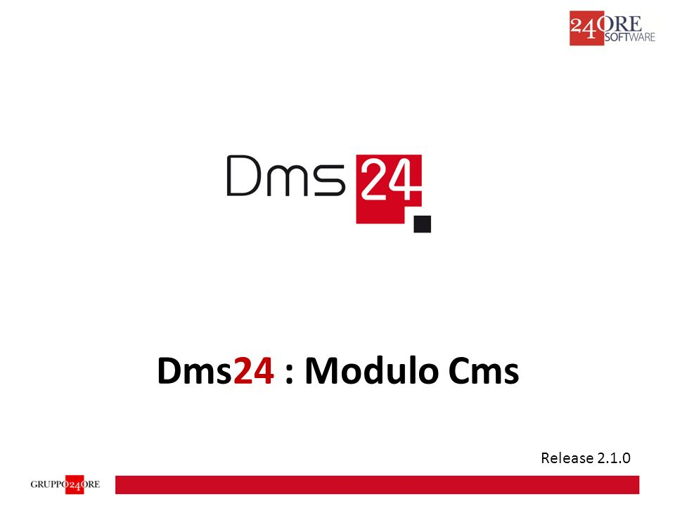 Dms24 : Modulo Cms Release 2.1.0