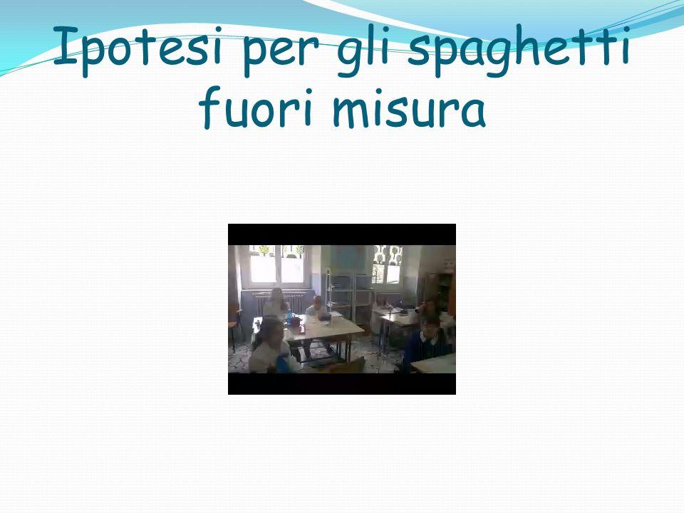 Ipotesi per gli spaghetti fuori misura