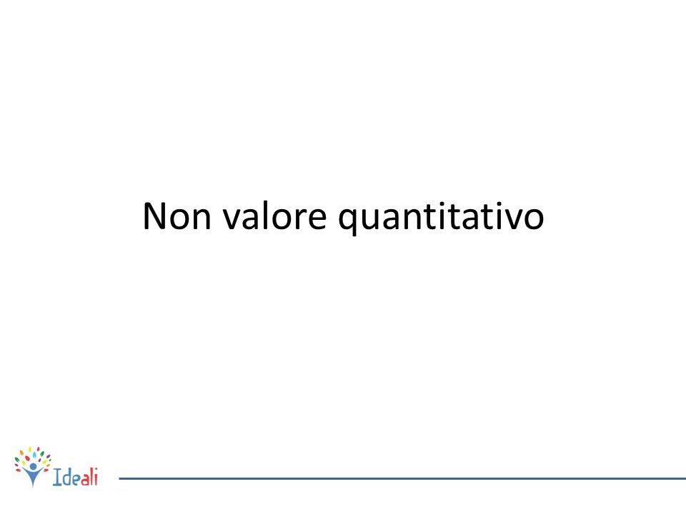 Non valore quantitativo