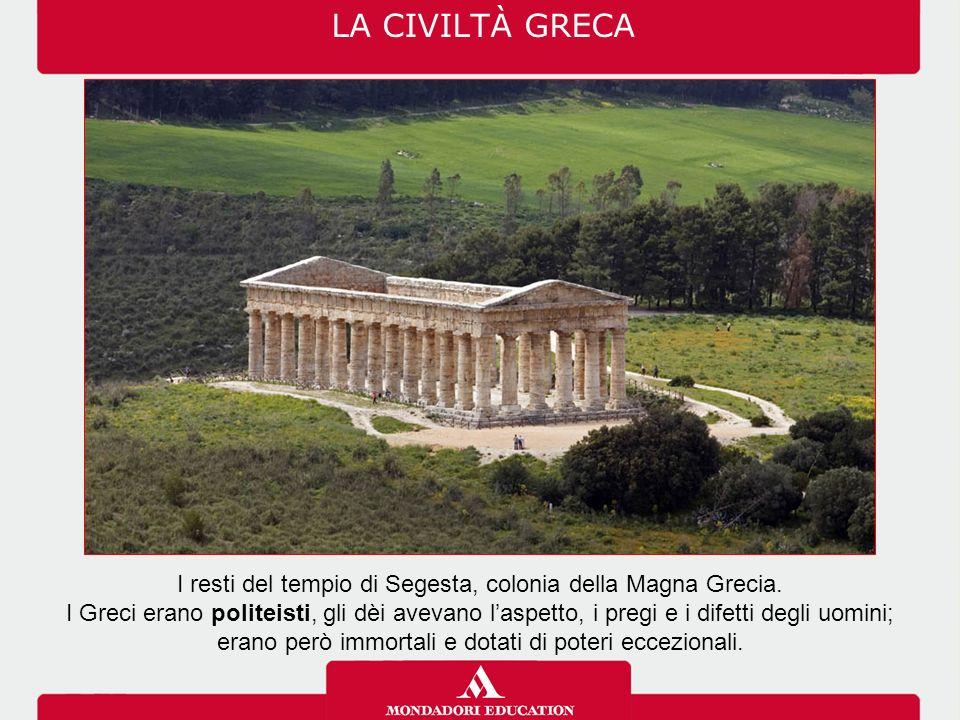 I resti del tempio di Segesta, colonia della Magna Grecia.