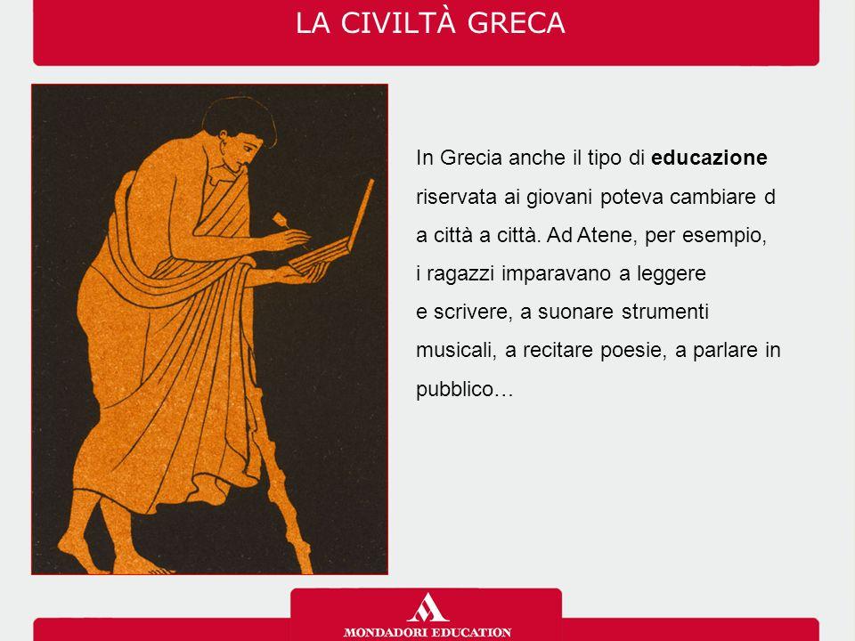I Greci erano abili artigiani e mercanti.
