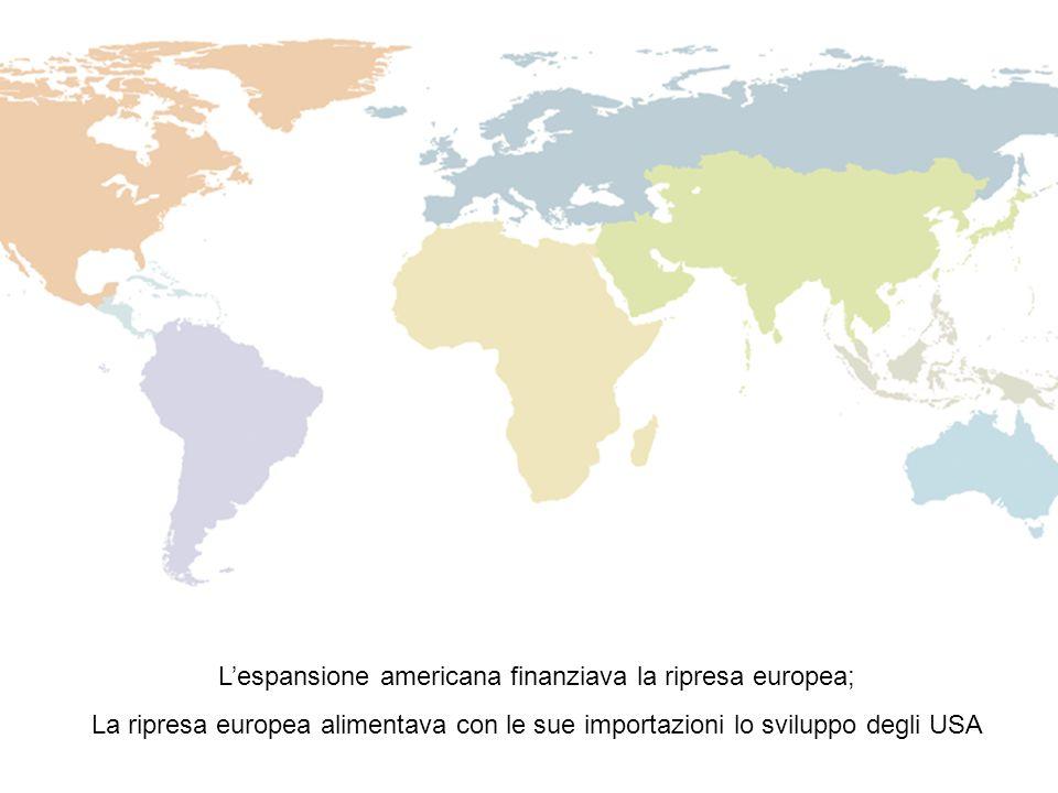 L'espansione americana finanziava la ripresa europea; La ripresa europea alimentava con le sue importazioni lo sviluppo degli USA