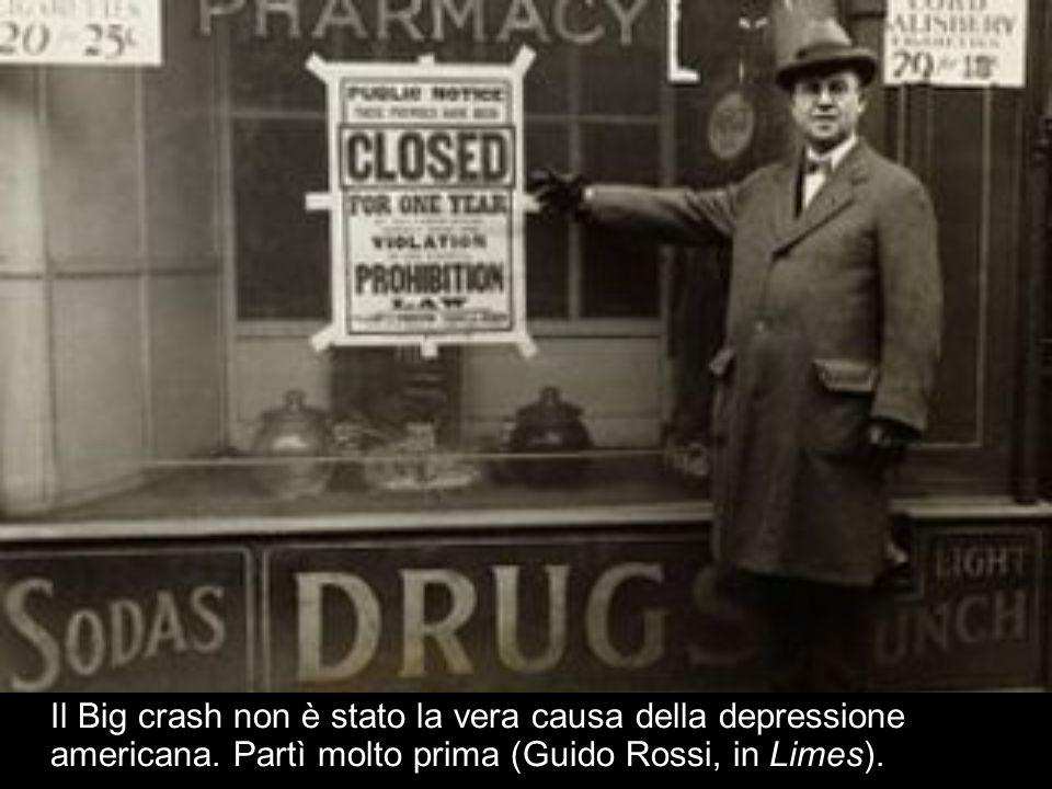 Il Big crash non è stato la vera causa della depressione americana. Partì molto prima (Guido Rossi, in Limes).
