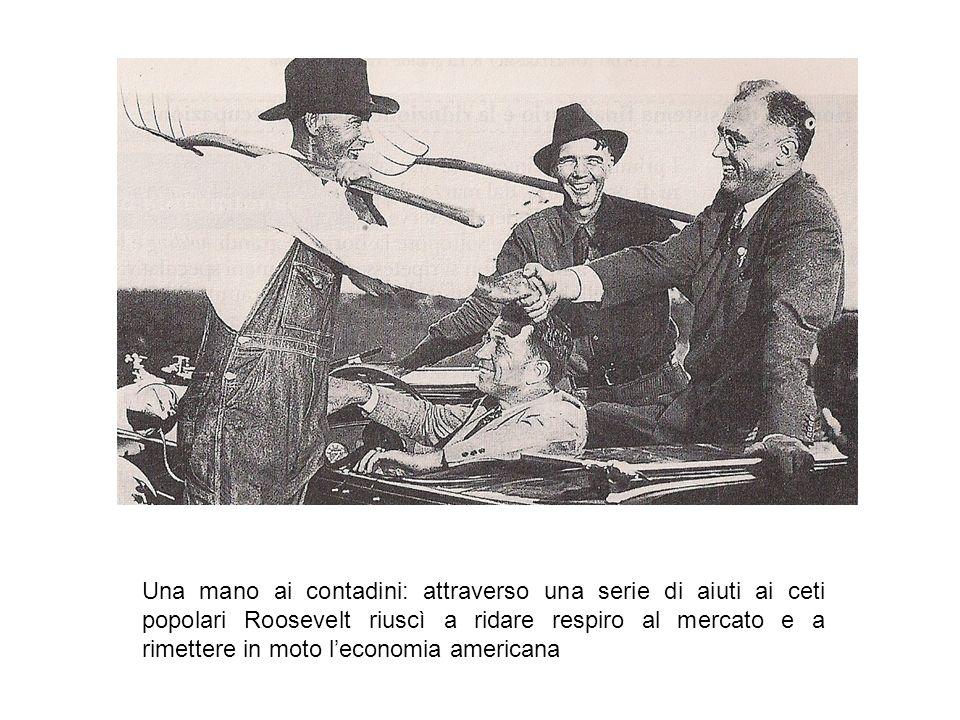 Una mano ai contadini: attraverso una serie di aiuti ai ceti popolari Roosevelt riuscì a ridare respiro al mercato e a rimettere in moto l'economia am