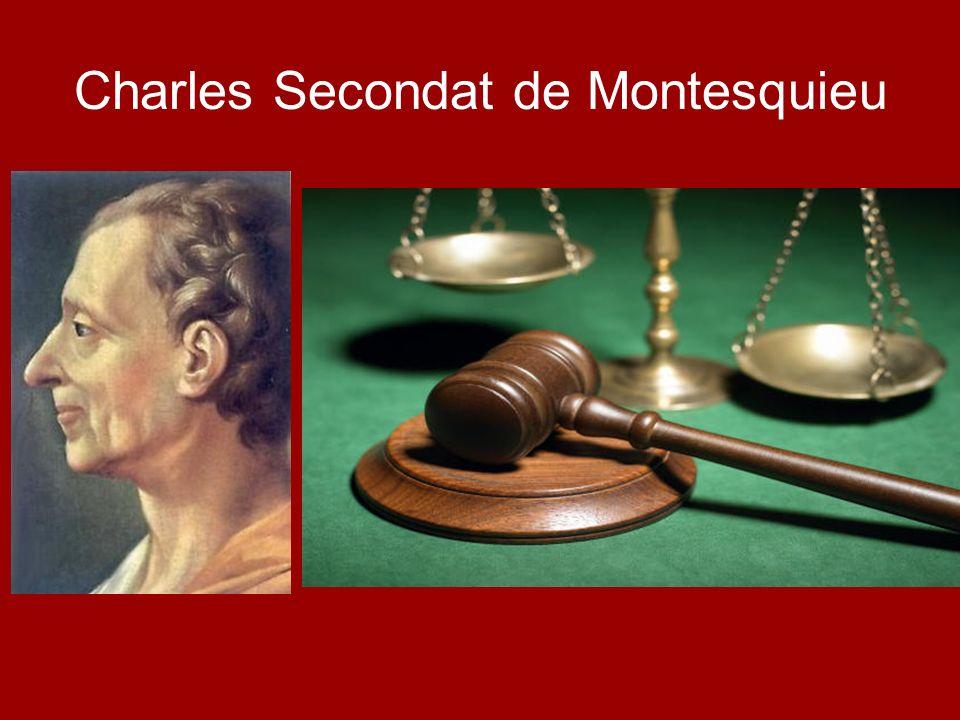 Charles Secondat de Montesquieu