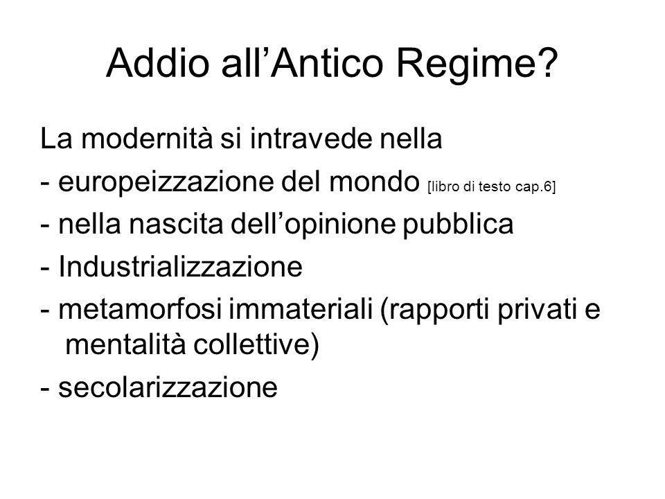 Addio all'Antico Regime.
