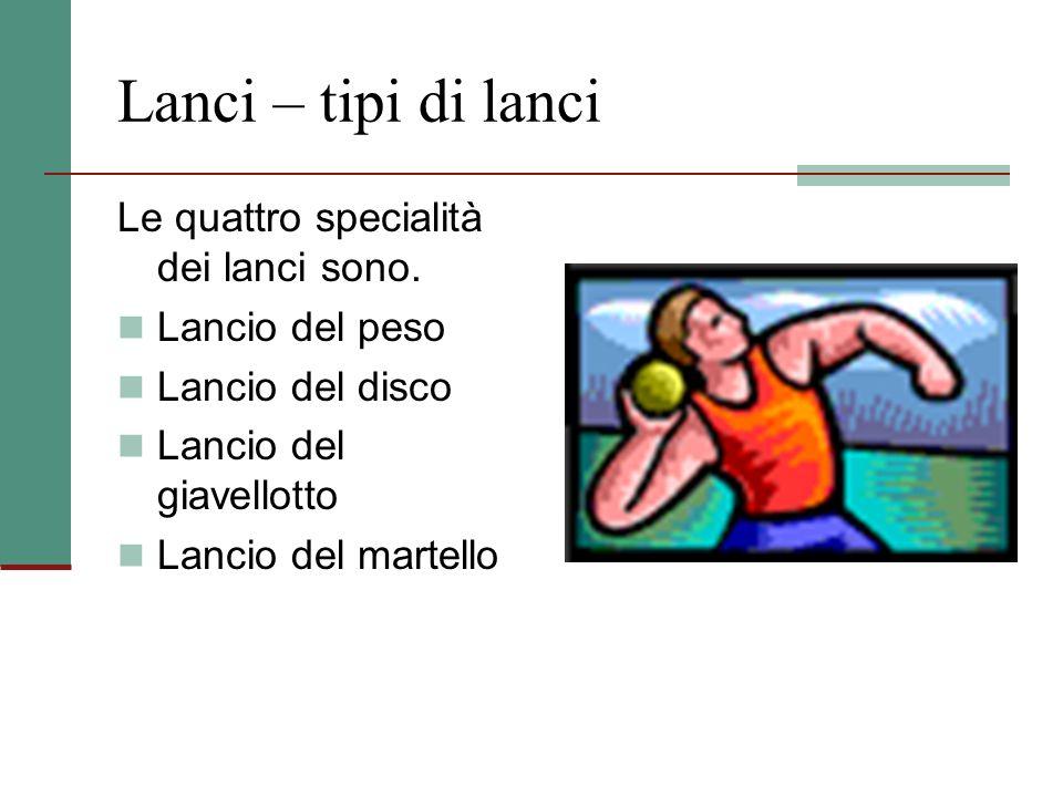 Salto in lungo e salto triplo Nel salto in lungo l'atleta prende un rincorsa (circa 40 m) e, prima di un limite stabilito (asse di battuta), compie un