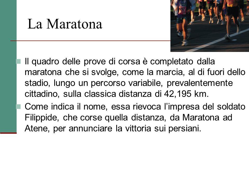 Corse ad ostacoli Le corse a ostacoli si svolgono sulle distanze dei 110 m (100 per le donne) e dei 400 m. Gli ostacoli ( alti 1,06 m per le prove sui
