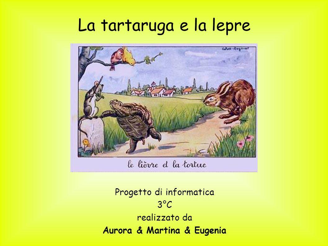 La tartaruga e la lepre Progetto di informatica 3°C realizzato da Aurora & Martina & Eugenia