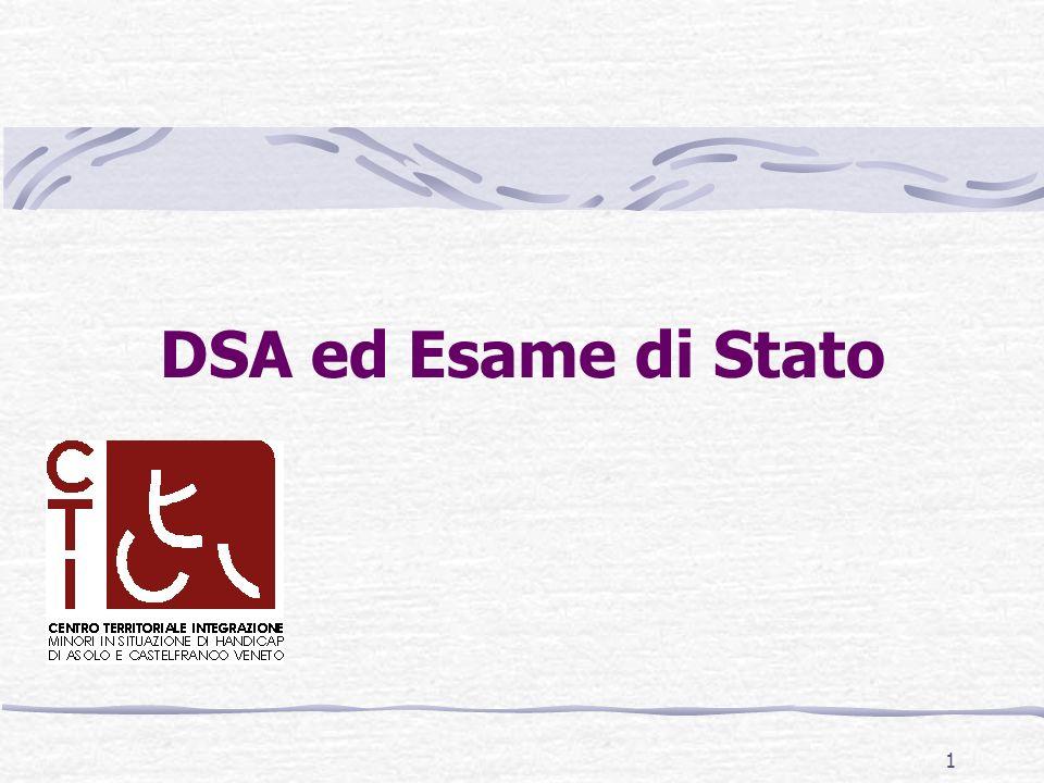 DSA ed Esame di Stato 1