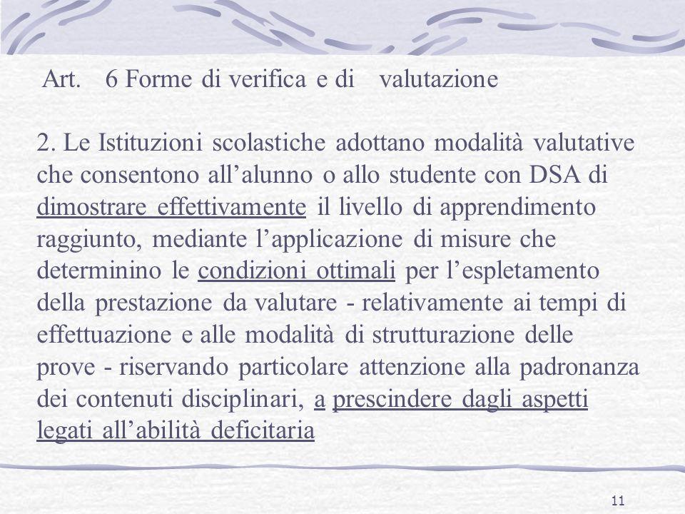 11 Art.6 Forme di verifica e divalutazione 2.