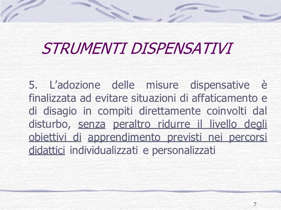 STRUMENTI DISPENSATIVI 5.