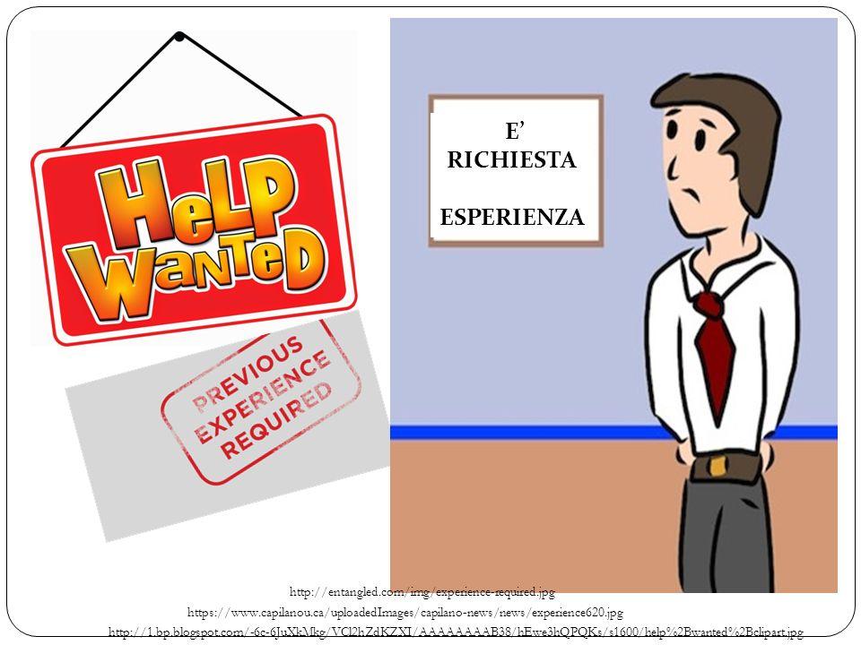 http://1.bp.blogspot.com/-6c-6JuXkMkg/VCl2hZdKZXI/AAAAAAAAB38/hEwe3hQPQKs/s1600/help%2Bwanted%2Bclipart.jpg https://www.capilanou.ca/uploadedImages/capilano-news/news/experience620.jpg http://entangled.com/img/experience-required.jpg E' RICHIESTA ESPERIENZA