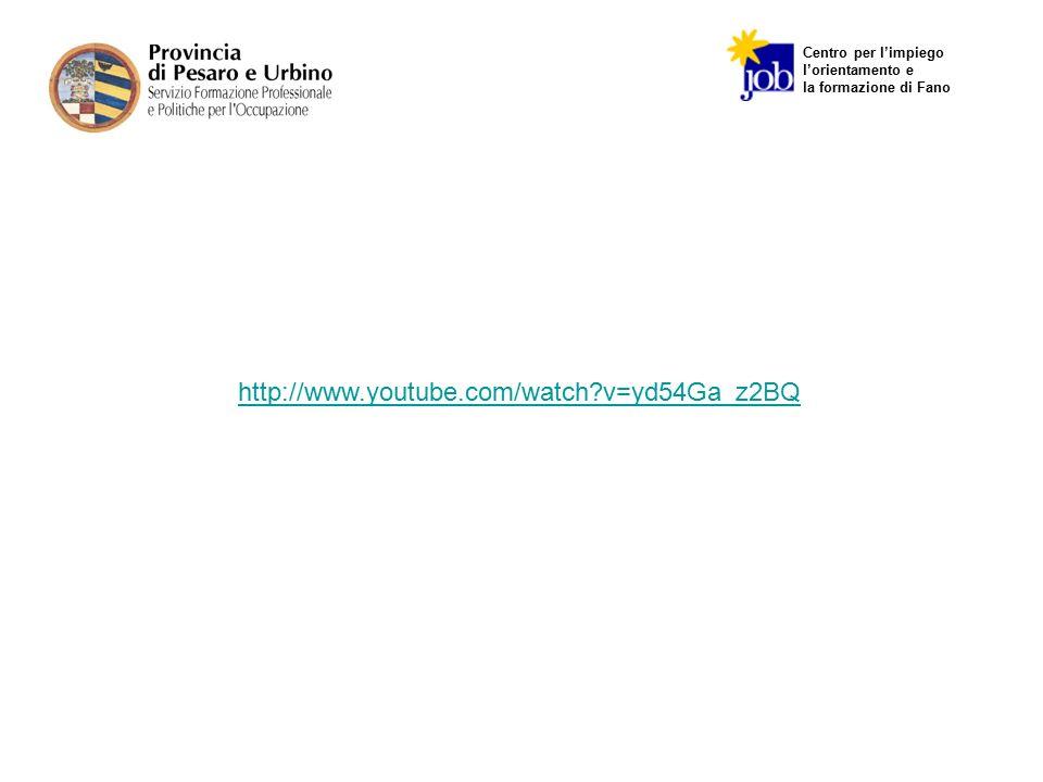Centro per l'impiego l'orientamento e la formazione di Fano http://www.youtube.com/watch?v=yd54Ga_z2BQ