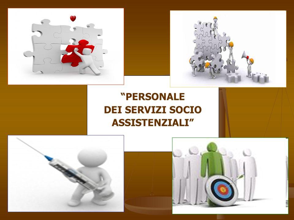 PERSONALE DEI SERVIZI SOCIO ASSISTENZIALI
