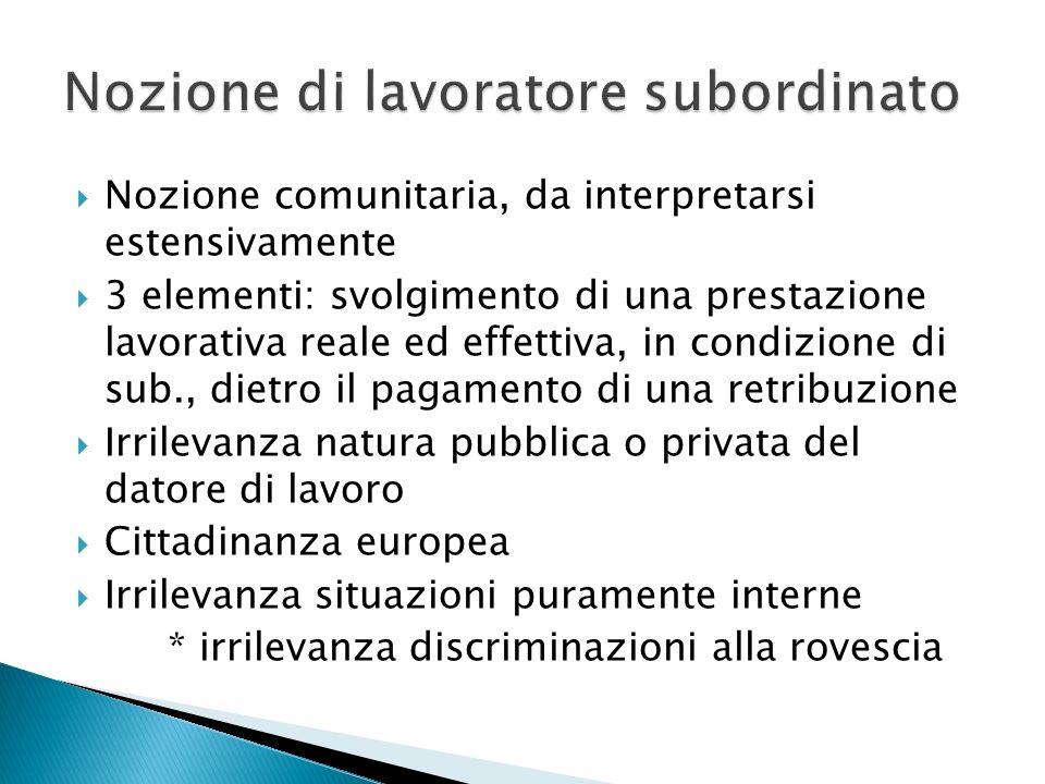  Regola generale: art.3 reg. 593/2008  Regola speciale per il contratto di lavoro: art.