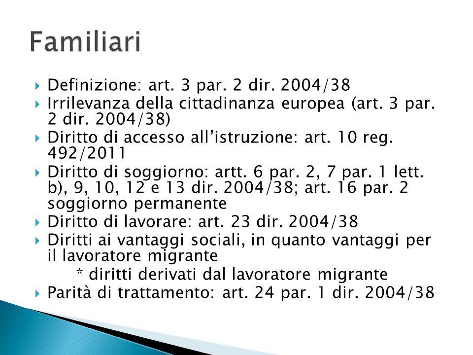  Art.15 par. 3 Cdfue  Politica comune dell'immigrazione: art.