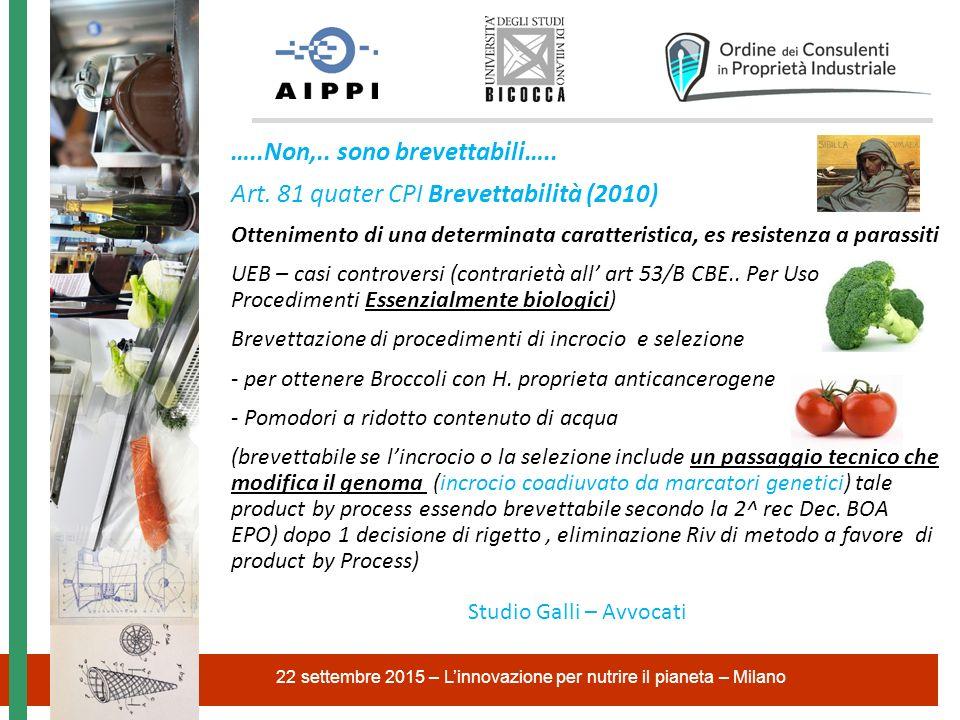 CPI Sezione VIII Nuove varietà vegetali Art.100 CPI.