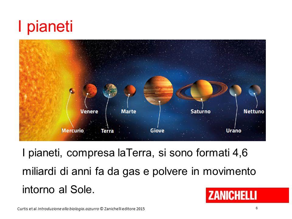 6 6 Curtis et al Introduzione alla biologia.azzurro © Zanichelli editore 2015 I pianeti I pianeti, compresa laTerra, si sono formati 4,6 miliardi di a