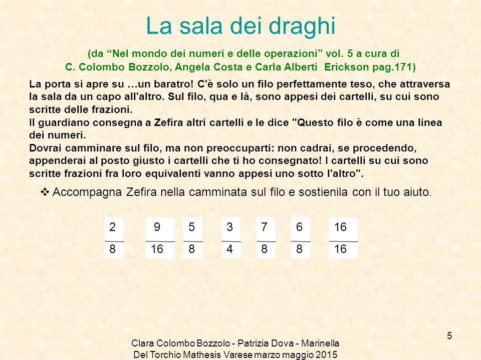 """Clara Colombo Bozzolo - Patrizia Dova - Marinella Del Torchio Mathesis Varese marzo maggio 2015 La sala dei draghi (da """"Nel mondo dei numeri e delle o"""