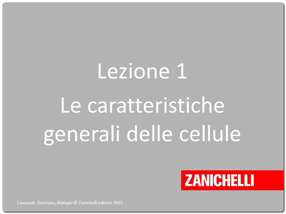 Lezione 1 Le caratteristiche generali delle cellule Cavazzuti, Damiano, Biologia © Zanichelli editore 2015