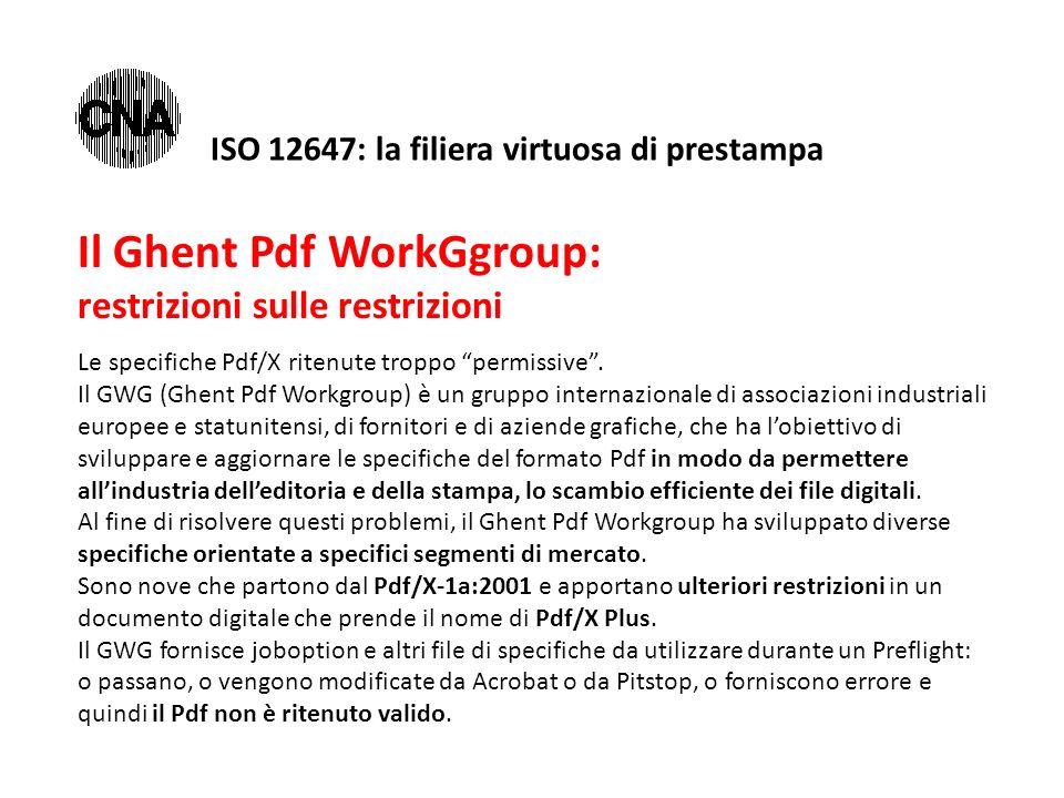 Il Ghent Pdf WorkGgroup: restrizioni sulle restrizioni Le specifiche Pdf/X ritenute troppo permissive .