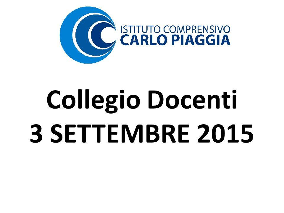 Collegio Docenti 3 SETTEMBRE 2015
