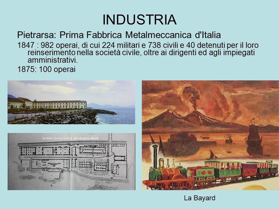 INDUSTRIA Pietrarsa: Prima Fabbrica Metalmeccanica d'Italia 1847 : 982 operai, di cui 224 militari e 738 civili e 40 detenuti per il loro reinseriment